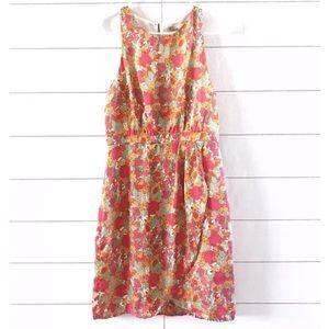 Forever 21 Pink Orange Floral Sleeveless Dress